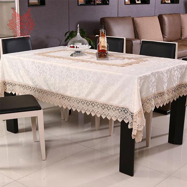 beige coffee hot sale table cloth floral jacquard satin. Black Bedroom Furniture Sets. Home Design Ideas