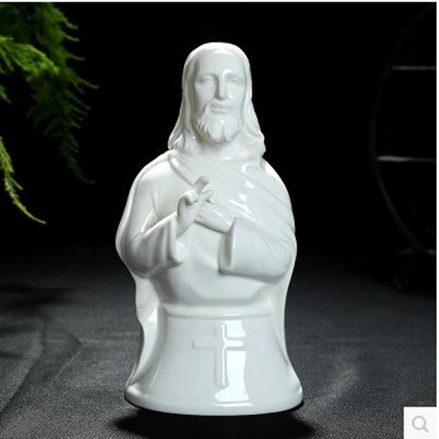 Jesus Statue And The Statue Of The Virgin Mary Maria, Christian Decorative  Arts And Crafts