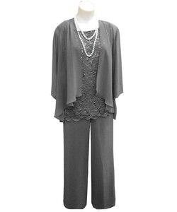 Image 5 - Costume pour mère de mariée, 3 trois pièces avec veste, costume pantalon, tenue formelle de soirée, dentelle pour mariage, marié musulman, SLD M01