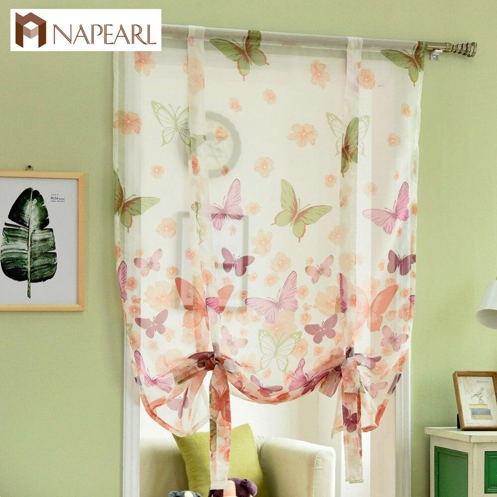 Aliexpress.com : Buy NAPEARL Kitchen Curtains Short Roman