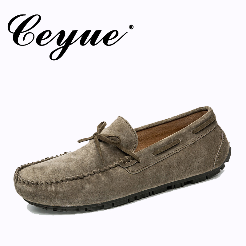 Ceyue Brand New Arrivals 2017 Leather Suede Men Loafers Quality Slip-on Driving Shoes for Men Fashion Boat Shoes Men Moccasins ceyue brand men casual shoes high quality men s soft leather slip on loafers male fashion driving shoes boat shoe mens moccasin