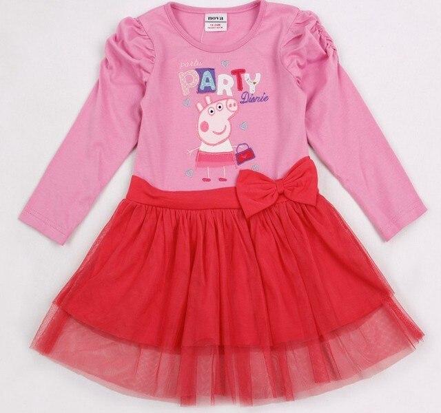113e85a2 [1st baby mall] Baby girls peppa pig dress pink long sleeves TUTU dress