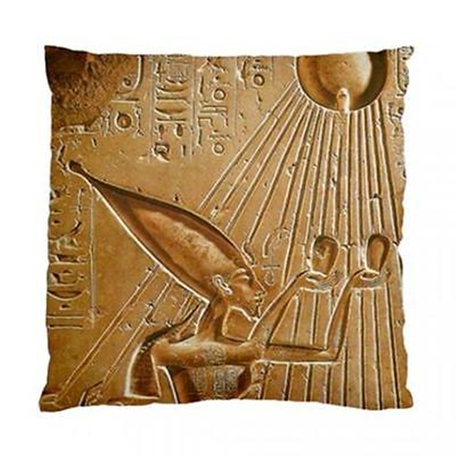 Retro Akhenaten Egyptian God Cushion Cover Ethnic Ancient Egypt ...