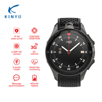Smartwatch 3g gps водонепроницаемый монитор сердечного ритма smart watch android вызова сообщение Динамик smart electronics ALLCALL W2 pk q7 KW88