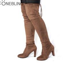 ربيع الخريف امرأة الأحذية الأزياء الفخذ أحذية عالية الكعب مثير أنحاء الركبة تمتد سلم التمهيد للنساء Overknee أحذية قطيع