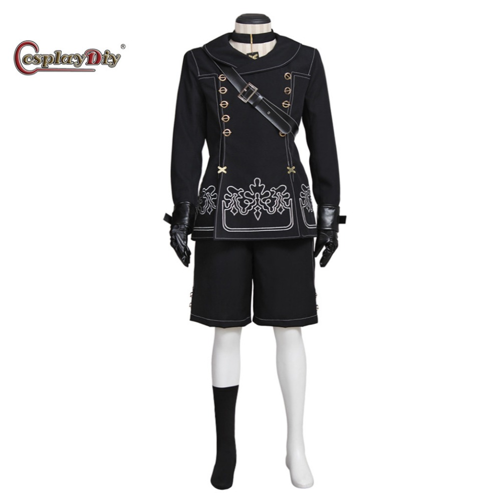 Cosplaydiy Game NieR:Automata YoRHa No. 9 Type S Costume Adult Men Halloween Carnival Cosplay Clothes Custom Made J5