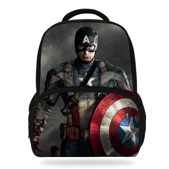 23ac12dfe85c 14inch Mochila Captain America Bag Primary School Boys Backpack For Kids  Cartoon Print Avengers Backpack Grils SchoolBag