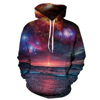 New Fashion Space Galaxy Sweatshirt Hoodies 3D Print Hip Hop Coats Casual Sweatshirt Sportwear Tops