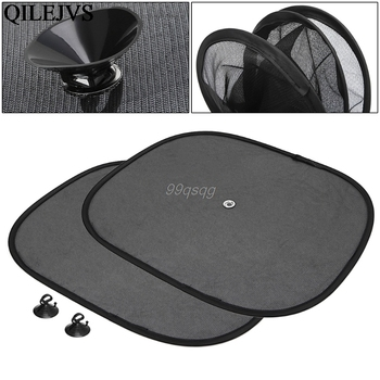 2Pcs Car Window Sunshade Sun Shade Visor Side Mesh Cover Shield Sunscreen Black 44 x 36 cm Drop shipping image