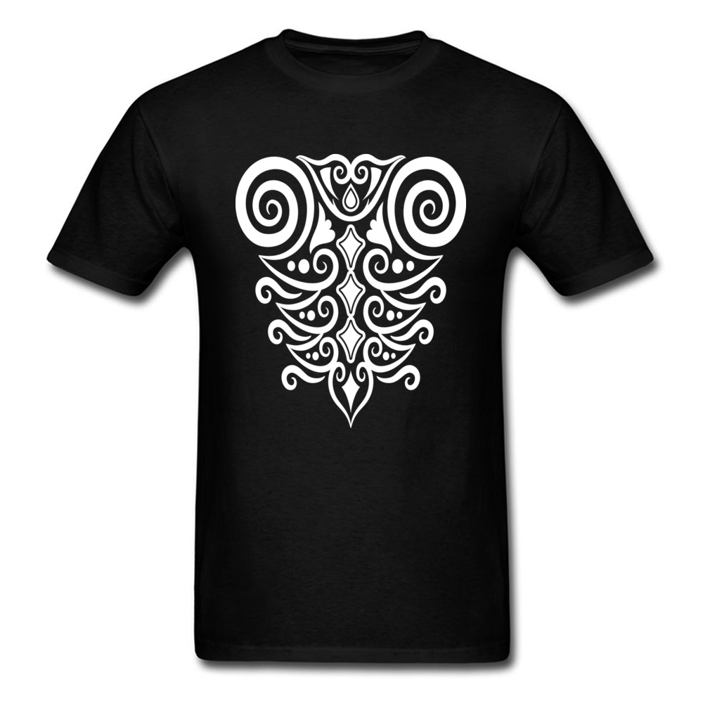 Primitif Tribal Decoration Art Design T Shirt For Men Simple Style Fashion Logo Printed Casual Tee Shirts Custom Cotton Tshirts