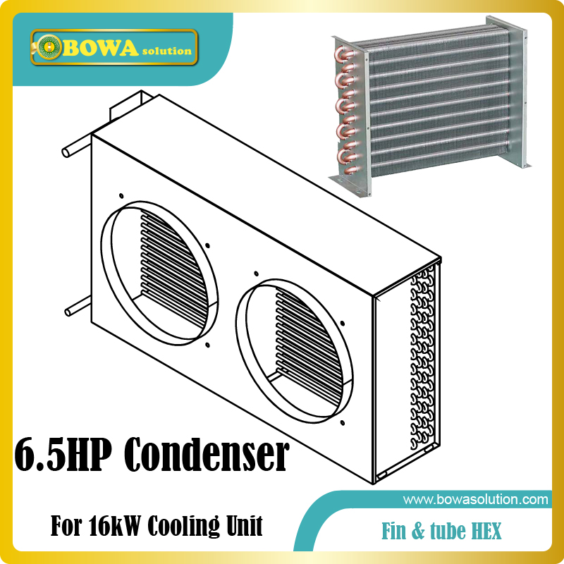 6.5HP fin & tube heat exchanger suitable for precision air conditioners, such as base station AC, telecom room AC, power station