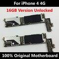 Baixo preço de venda oficial 100% original motherboard para iphone 4 4g bom trabalho placa lógica mainboard 16 gb com fichas completas