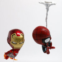 2pcs Iron Man Spider Man Homecoming Collectible Figures 4 Inches 2