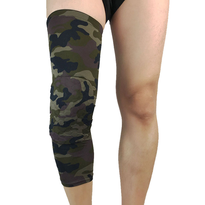Outdoor Camouflage Basketball Knee Protectors Sports Safety Knee Calf Leg Sleeves Honeycomb Pad Kneel Guard Protective Knee