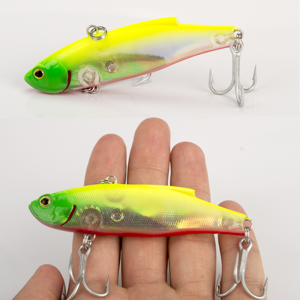 1PCS Multicolor Colors Fishing Lure 30g 90mm Sinking Wobbler VIB Hard Artificial Bait Vibration Variable Depth Fishing Tackle