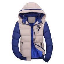 Winter Men Cotton Padded Outerwears 2017 New 4XL Men's Parkas Thick Hooded Coats Men Thermal Warm Casual Jackets Male Overcoats