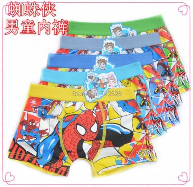 Darmowa wysyłka 6 sztuk/partia bielizny bawełnianej bielizny Dla Dzieci Spiderman chłopcy chłopiec kreskówka boxersctnm0006