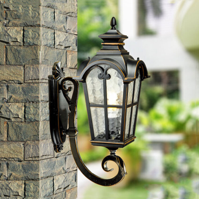 Fashion waterproof outdoor wall lamp balcony garden gazebo door enclosing wall villa aisle bedroom vintage wall light WKS-OWL31