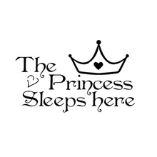 Princess wall stickers sleeps here wall decals