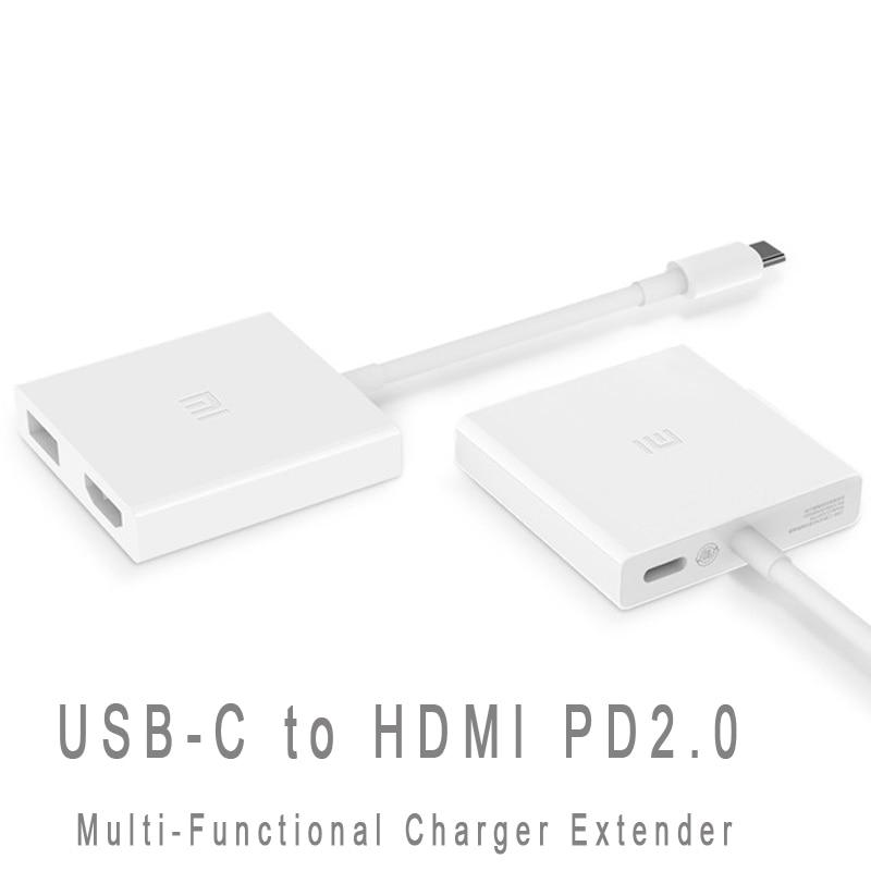 цена на Original Xiaomi USB-C to HDMI Multi-Functional Adapter for Mi Notebook Air 4K PD2.0 HD Video Converter Type-C Data Transfer Hub