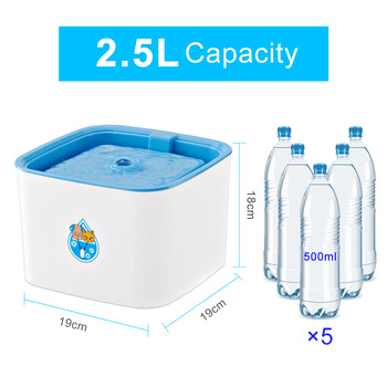 UK/EU/US Plug 2.5L Automatic Cat Water Fountain Electric Water Fountain Dog Cat Pet Drinker Bowl Pet Blue Drinking Fountain  1