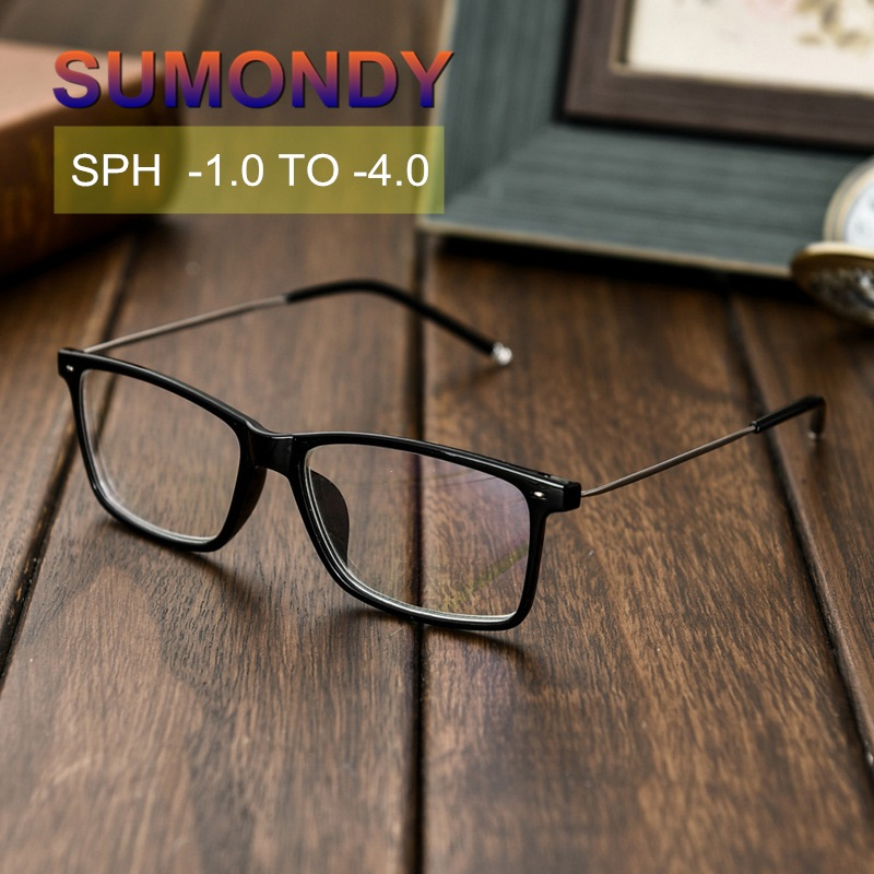 SPH -1 -1.5 -2 -2.5 -3 -3.5 -4 Fashion Finished Myopia Glasses Women Men Nearsighted Spectacles With Diopter End Product UF31