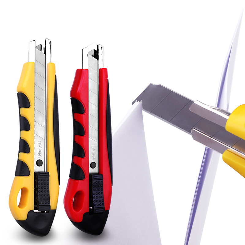 18mm Paper Cutter Utility Knife Large Auto-Lock Safety Art Knife Cutting Tools Office School Supplies