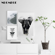 NUOMEGE Nordic Minimalist Creative Poster Canvas Wall Art Animal Landscape Painting Decorative Picture Prints Home Decor