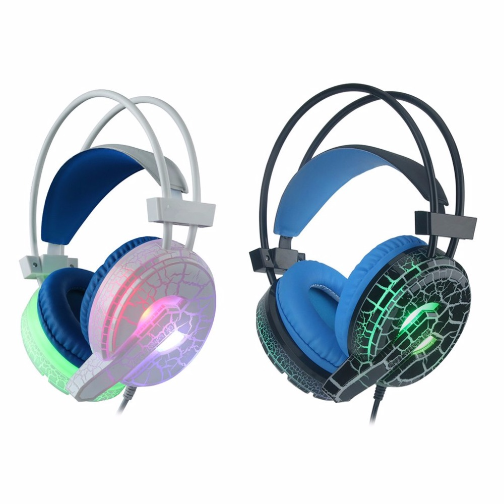 Fashion H6 Gaming Headset Deep Bass Computer Game Headphones with microphone LED Light for computer PC Gamer magift gaming headset earphone sound effect deep bass computer game headphones with microphone led light for computer pc gamer