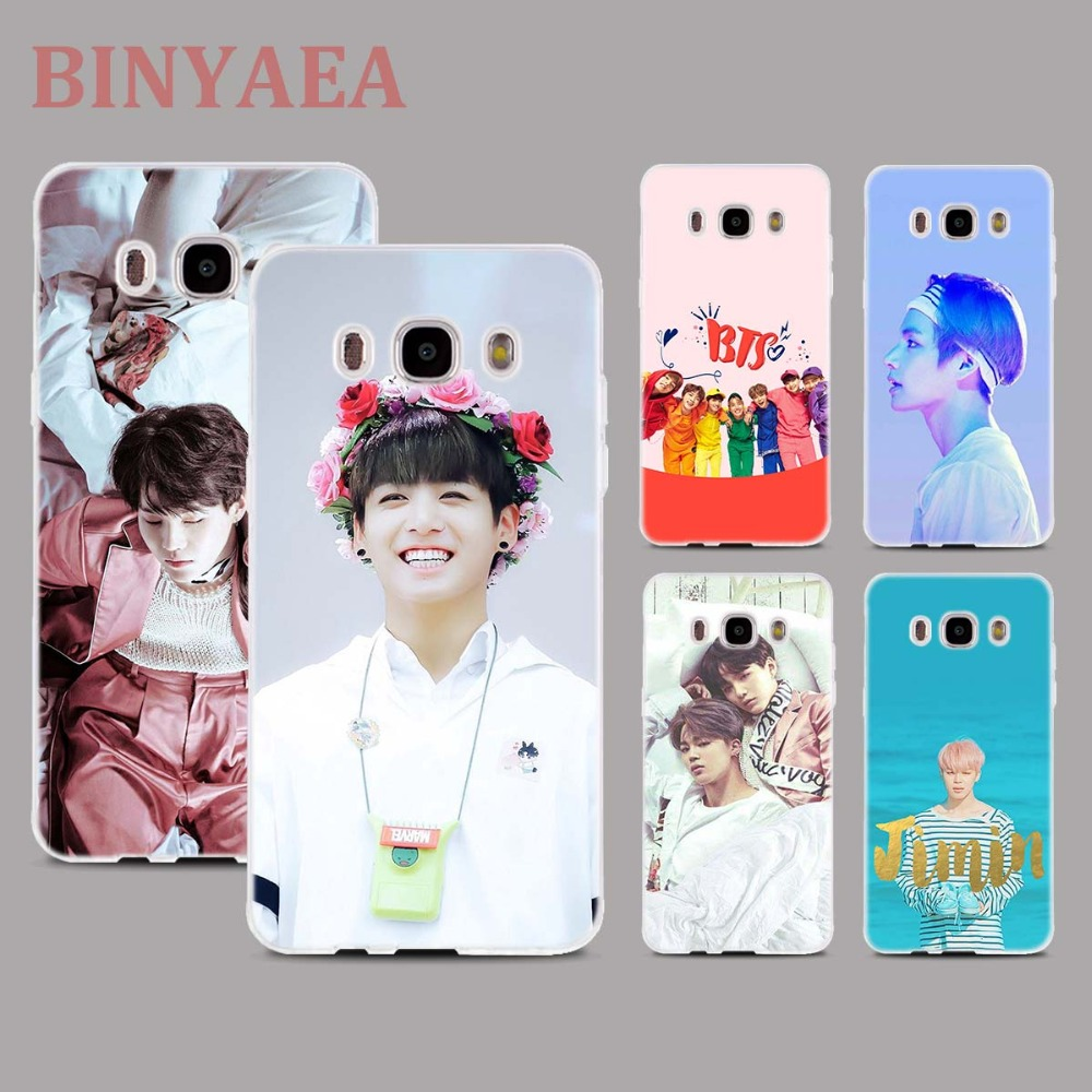 BINYEAE BTS Bangtan V Jim Taehyung Soft Transparent silicone Phone Cases for Samsung Galaxy j3 j4 j5 j6 j7 j8 2016 2017 2018