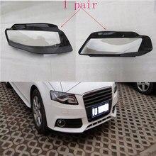 Спереди фар стекло маски крышка лампы прозрачный корпус лампы маски для Audi A8 B8 2008-2012 Бесплатная доставка из 2 предметов