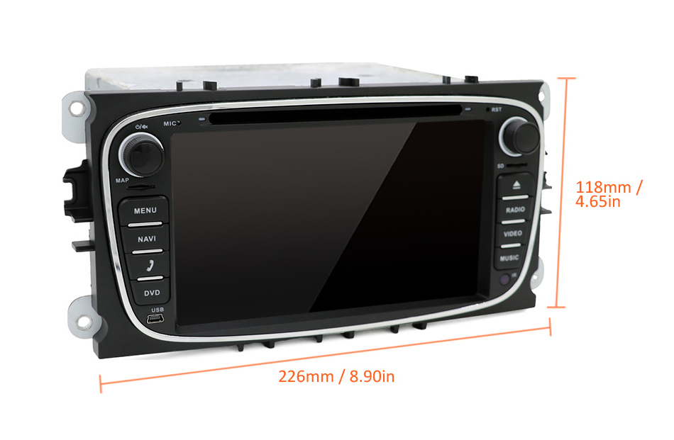 Best Eunavi 2 din Android 9.0 Car DVD Radio Multimedia GPS for FORD Focus Mondeo S-MAX C-MAX Galaxy 4G 64G IPS DSP TDA7803A head unit 33