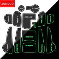 ZUNDUO Portão slot pad Para Hyundai Solaris 2011-2016 Sulco Porta Tapete Automotivo interior Não-slip esteiras e poeira tapete vermelho/azul/whit