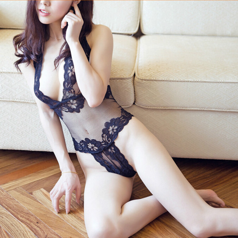 Hot Sale Sex Products High Quality Lace Underwear Women Costumes Erotic Sexy Lingerie Transparent Conjoined Bodydoll Sleepwear