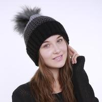 Nieuwe Pom Poms Vrouwen Winter Hoeden Casual Mutsen Mode Gehaakte Breien Hoed Merk Dikke Vrouwelijke Cap Hoed bone feminino Groothandel