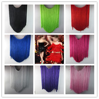 5 Yard Lot 50CM Long Polyester Fringe Trim African Tassel Ribbon Lace Accessory Sew Latin Dress