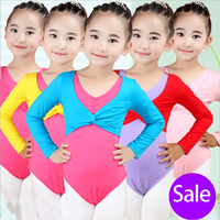 New 2017 Girl Ballet Gymnastic Leotard Jacket Long Sleeved Dance Sweater Top Coat Kids Dance Clothing