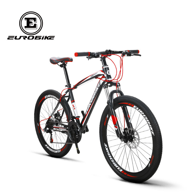 f1911041f1f EUROBIKE X1 Mountain Bike 26 MTB Bicycle 21 Speed Dual Disc Brake-in Bicycle  from Sports & Entertainment on Aliexpress.com | Alibaba Group