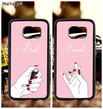 BFF best friends good sisters soft TPU edge mobile phone cases for samsung s6 edge plus s7 edge s8 plus s9 s10 plus lite e note9 bff heart best friends soft tpu edge cell phone cases for samsung s6 edge plus s7 edge s8 plus s9 s10 plus lite e note 8 9 case