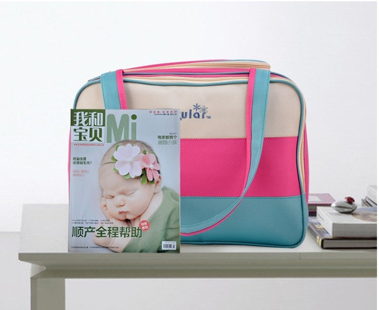 insular Colorful stripe diaper bag multifunctional waterproof baby care nappy mummy bag mother Shoulder Tote stroller bags 13