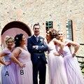 Gorgeous Lavender Pink Plus Sizes Bridesmaid Dress Long Bridesmaid Gowns Women King Size Dress Lovely Plus Size Bridesmaid Gown