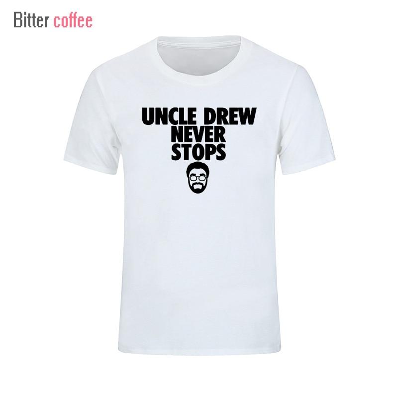 Verano Nuevo tío Drew HEVER STOPS camisetas de manga corta camiseta - Ropa de hombre