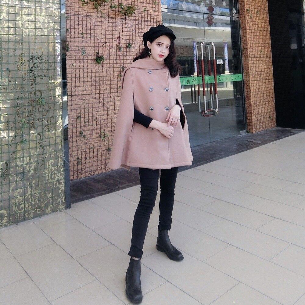 De Pour 2018 Femmes Dames Capes Veste Chauve red Style Casaco Automne Angleterre Mode Manteau Chaud Camel black C367 D'hiver souris Vintage Laine Poncho 55rtwaqgx