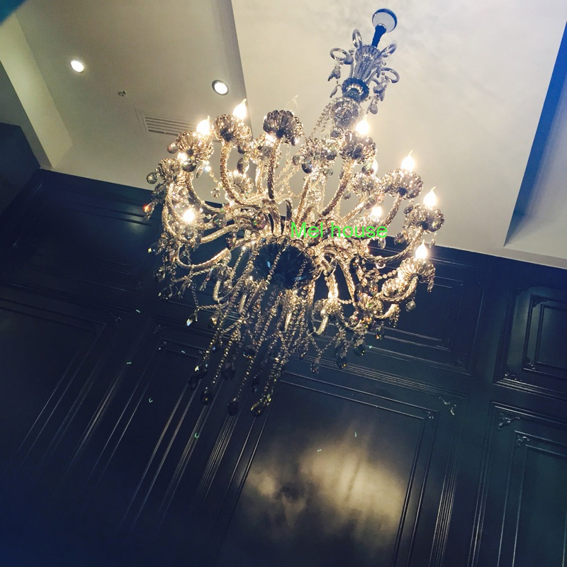 retro verlichting kroonluchters lamp Rook grijs kristallen - Binnenverlichting - Foto 2