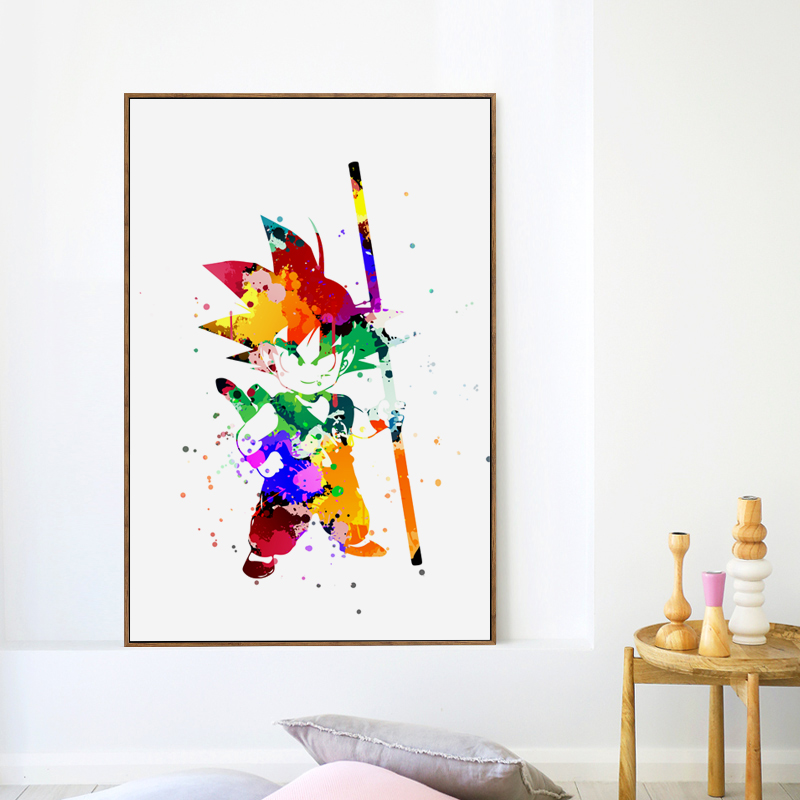 Dragon Ball A4 Canvas Art Painting Poster