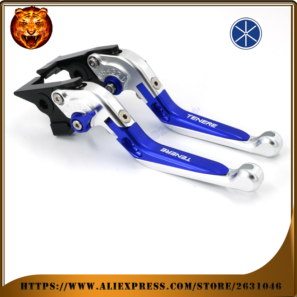 Motorcycle Adjustable Folding Extendable Brake Clutch Lever For YAMAHA SUPER TENERE XT1200ZE SUPERTENERE 12 13  FREE SHIPPING billet alu folding adjustable brake clutch levers for motoguzzi griso 850 breva 1100 norge 1200 06 2013 07 08 1200 sport stelvio