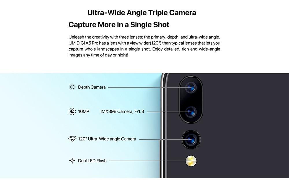 HTB1aKGdXFY7gK0jSZKzq6yikpXa7 UMIDIGI A5 PRO Android 9.0 Octa Core Mobile Phone 6.3' FHD+ 16MP Triple Camera 4150mAh 4GB RAM 32G ROM Smartphone gsm unlocked