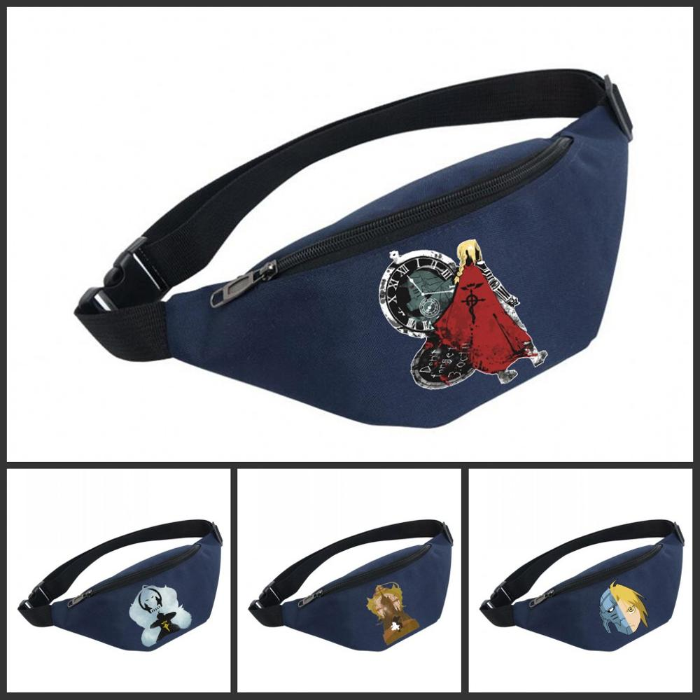 Waist Bag Women Belt Waterproof Chest Handbag Unisex Fanny Pack Ladies Waist Pack Belly Bags For Fullmetal Alchemist