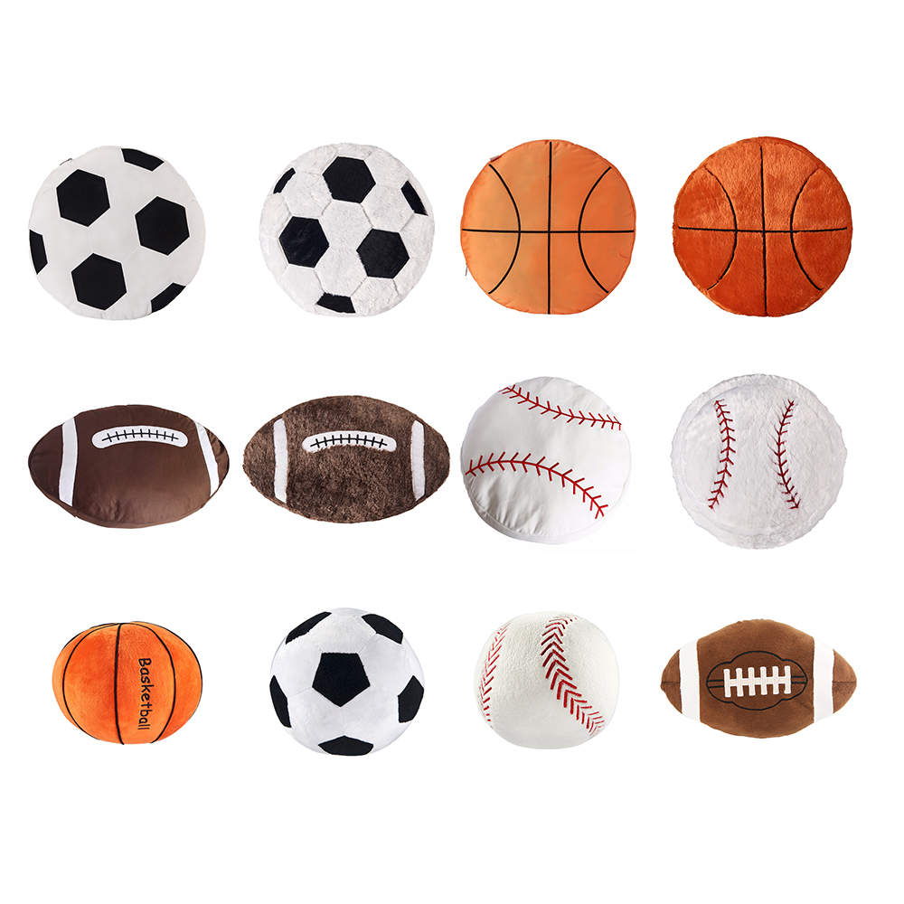 Soft Stuffed Baseball Basketball Rugby Football Sports Toy Baby Plush Toy Play