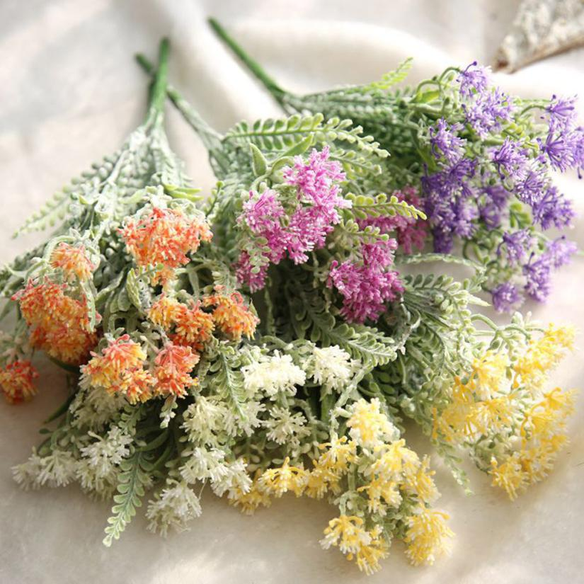 Artificial Fake Flowers Milan Flower Floral Wedding Bouquet Home Decor June29 Drop Shipping